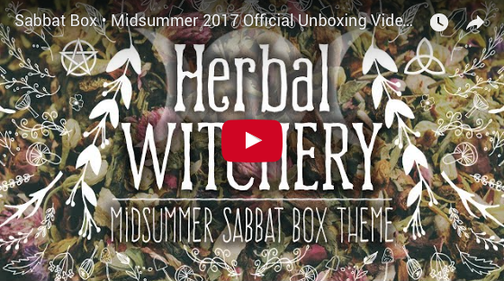 2017 Midsummer Sabbat Box Herbal Witchery Unboxing Video