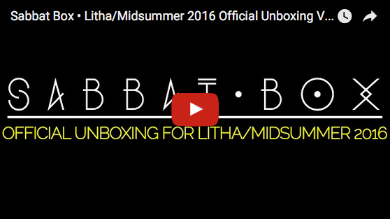 Litha - Midsummer Sabbat Box Unboxing Video for 2016