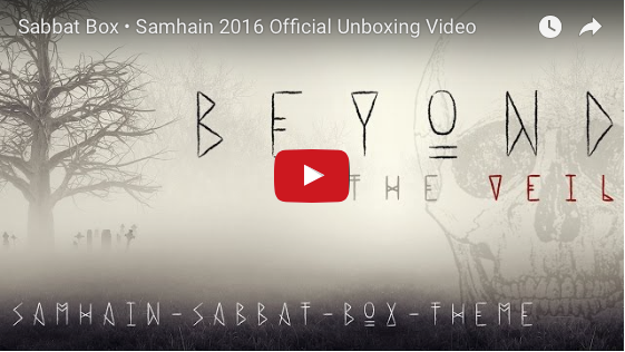 2016 Official Samhain Sabbat Box Unboxing Video - Beyond The Veil Theme
