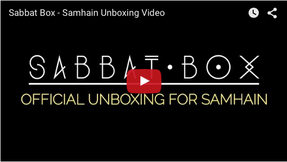Samhain Sabbat Box Unboxing Video