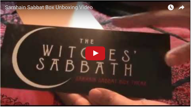 Samhain Super Sabbat Box Winner Unboxing Video