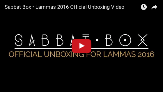 2016 Lammas Sabbat Box Unboxing Video