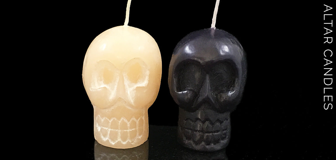 Skull Candles - Hand Carved Skull Candles