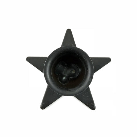 Black Pentagram Candle Holder - Sabbat Box