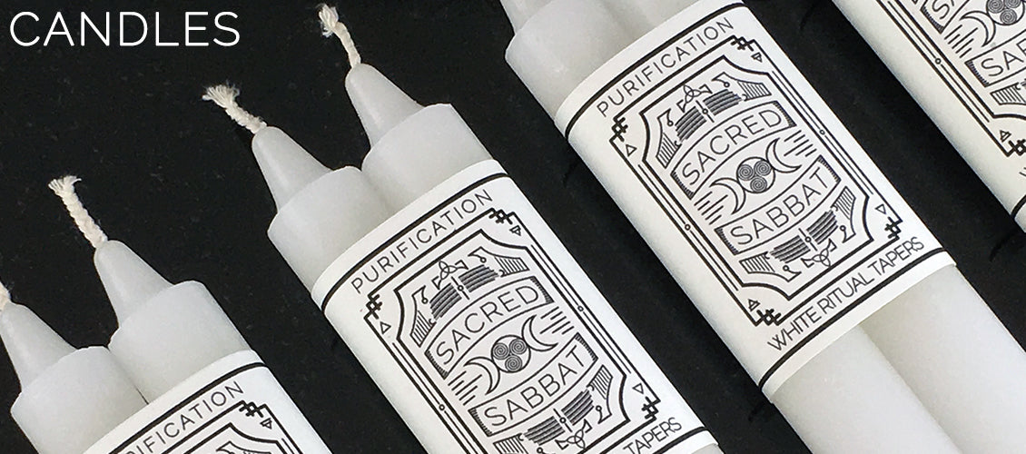 Sacred Sabbat White Purification Ritual Spell Candles