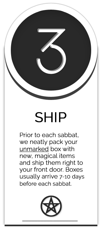 Sabbat Box Wiccan Supplies Subscription Box