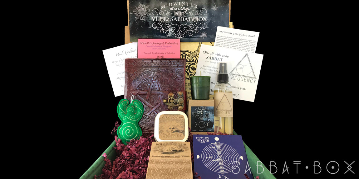 2017 Yule Sabbat Box - Midwinter Musings - Winter Solstice Sabbat Box - Pagan Supplies Wiccan Supplies