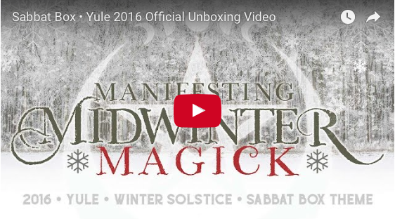 Official 2016 Yule Sabbat Box Unboxing Video