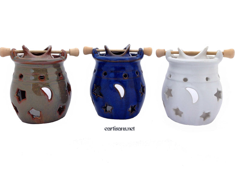 Celestial Oil Burners With Hanging Vessels