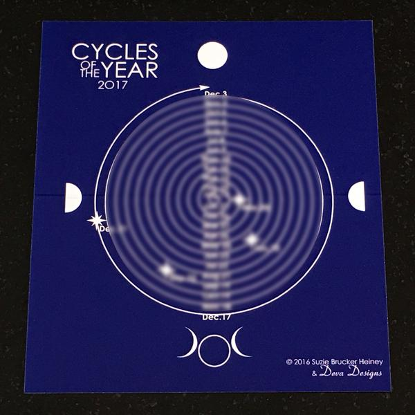2018 Moon Calendar Cycles of the Year By Deva Designs - Sabbat Box