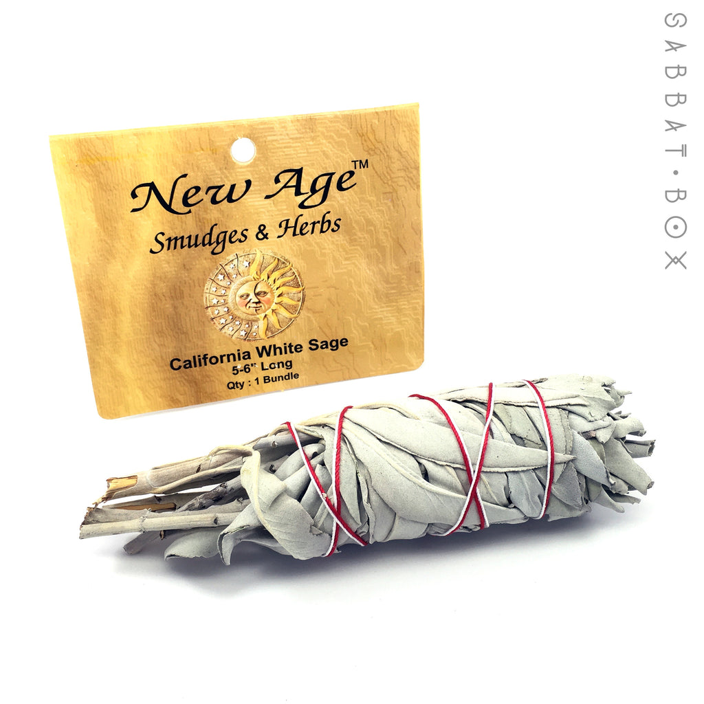 California White Sage Smudge Sticks - White Sage Wand - 5.0 inch