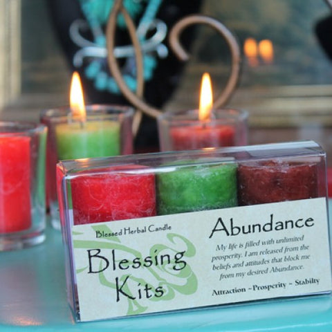 Abundance Spell Candle Blessing Kit