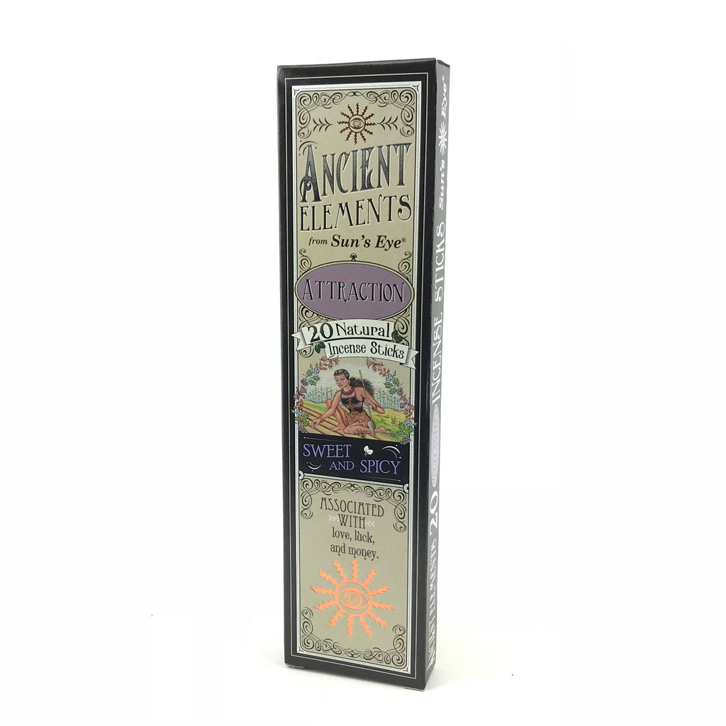 Attraction Ancient Elements Stick Incense by Sun's Eye - Sabbat Box