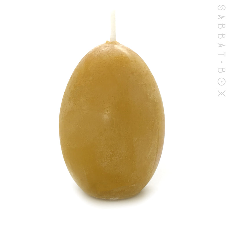 Hand poured beeswax egg candles