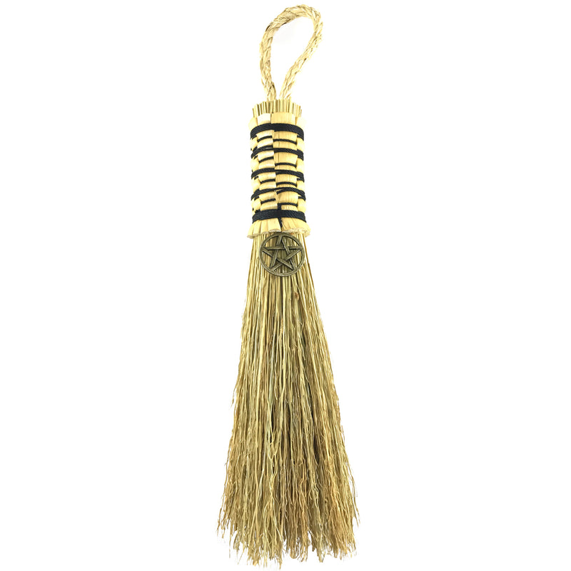Witches Broom With Bronze Pentacle By Blue Moon Broom Brush and Besom - Sabbat Box