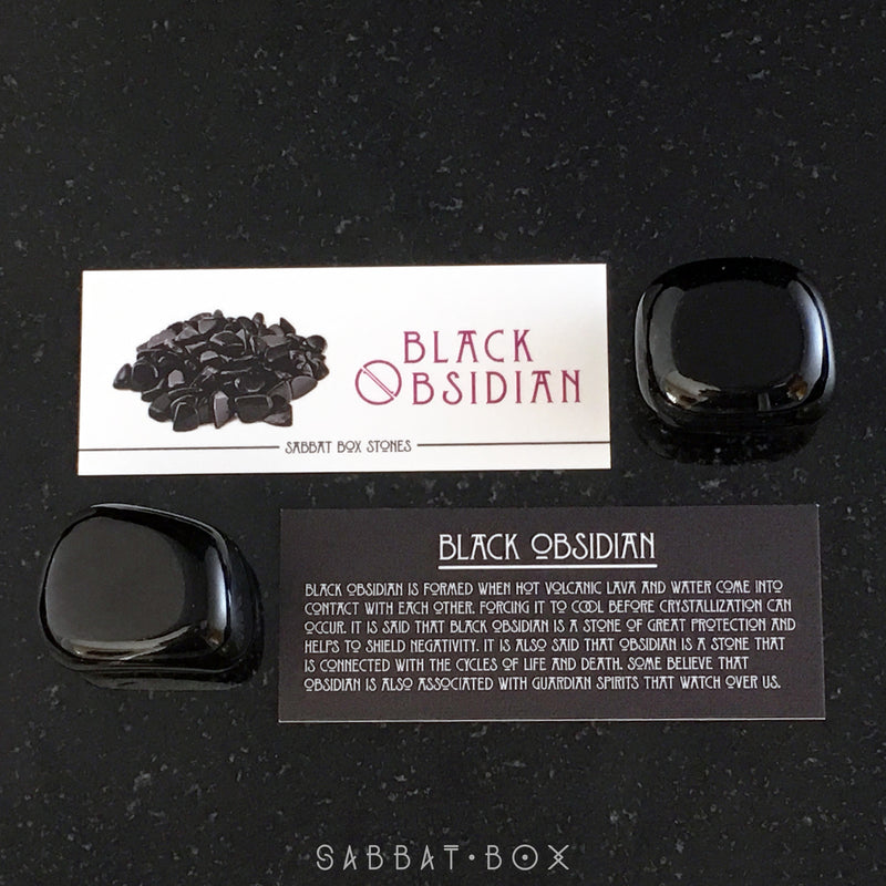 Black Obsidian Gemstone and Crystal Set