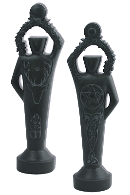 Wiccan Pentacle God Statues
