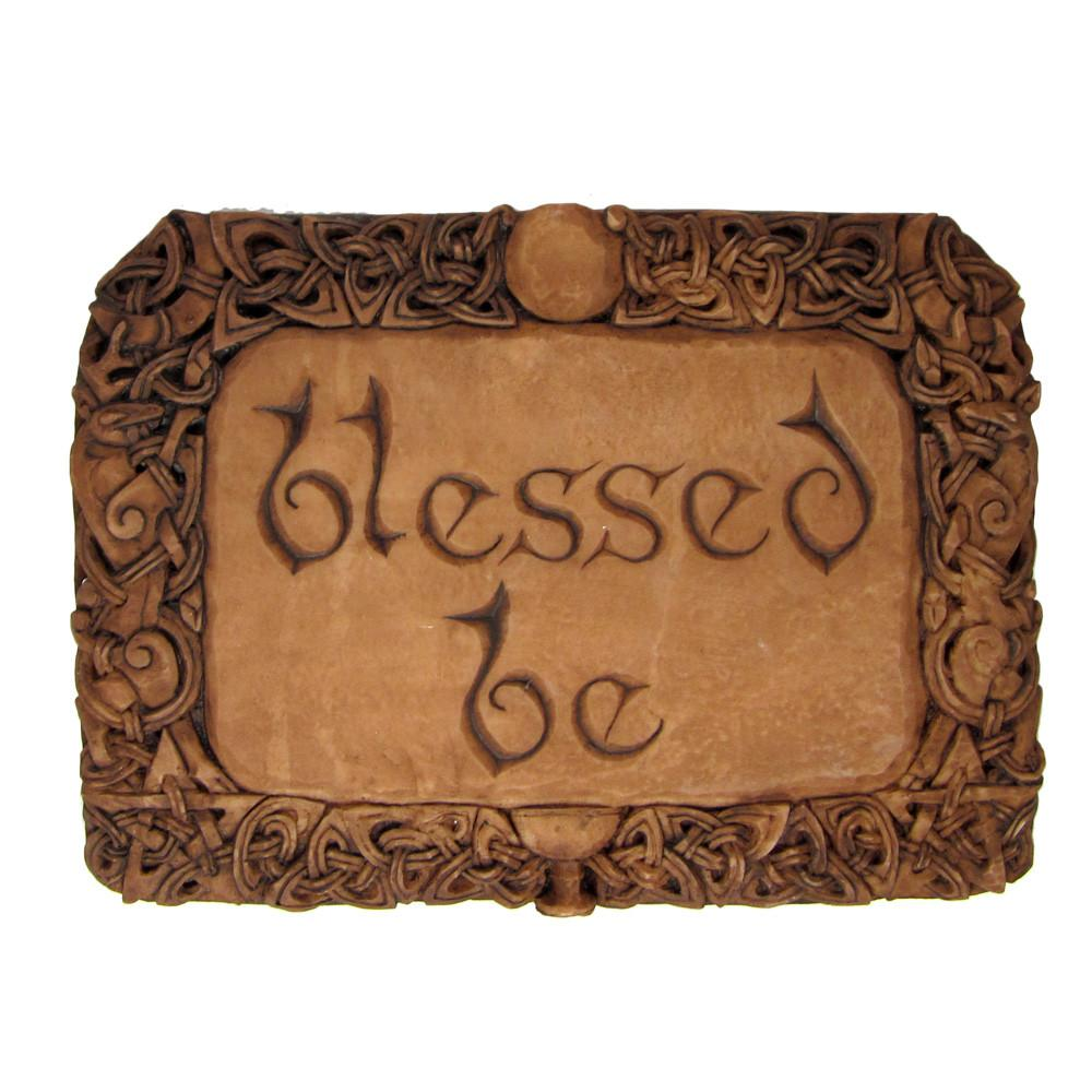 Blessed Be Plaque - Wood Finish
