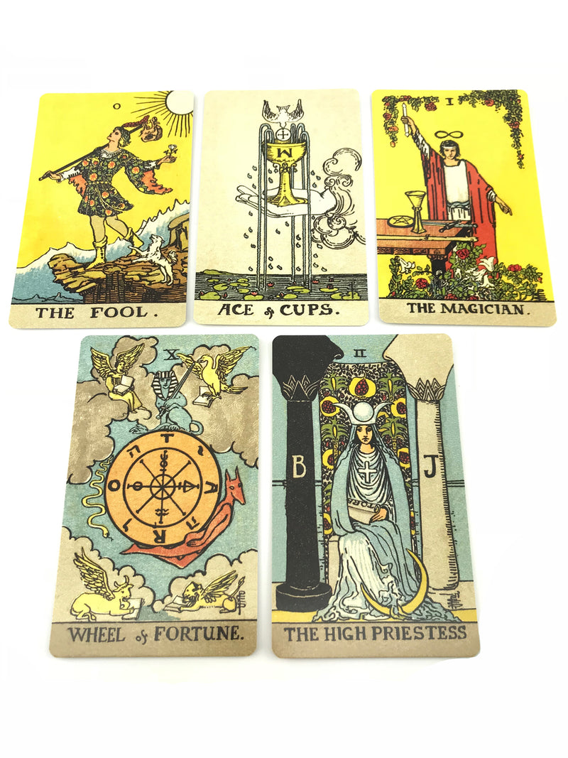 Borderless Smith-Waite Tarot Deck By Pamela Coleman Smith - Sabbat Box