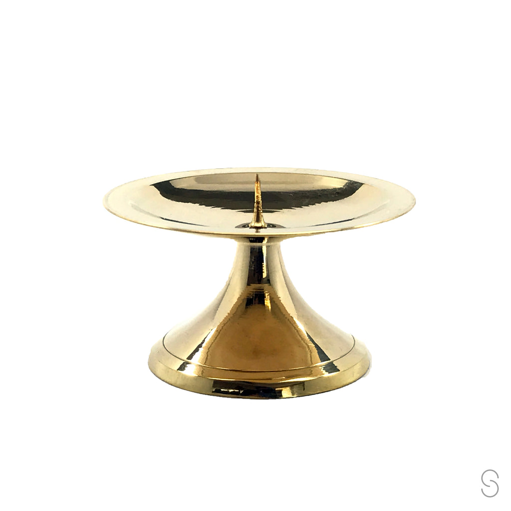 Brass Spike Candle Holder - 3""