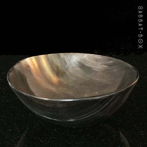 Polished Horn Ritual Offering Bowl