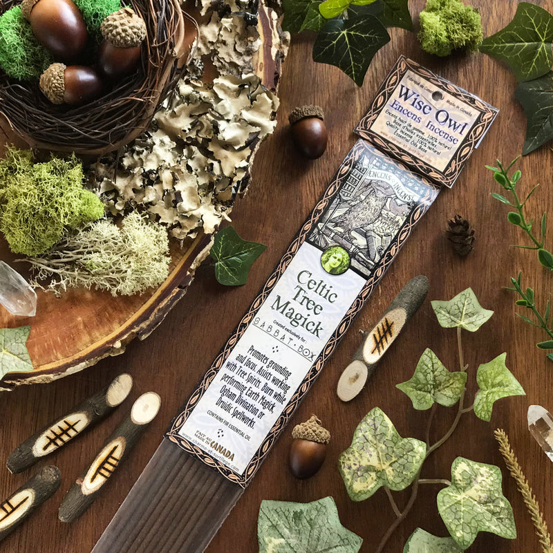 Wise Owl Celtic Tree Magick Stick Incense - 20 Pack - Sabbat Box