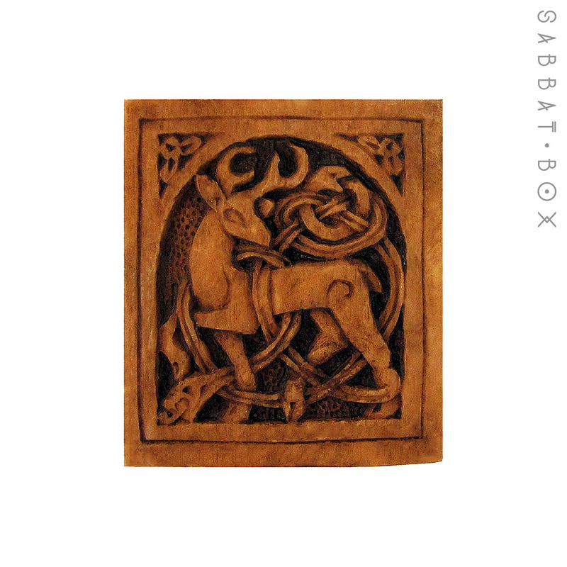 Celtic Stag Altar Tile - Altar Plaque by Paul Borda