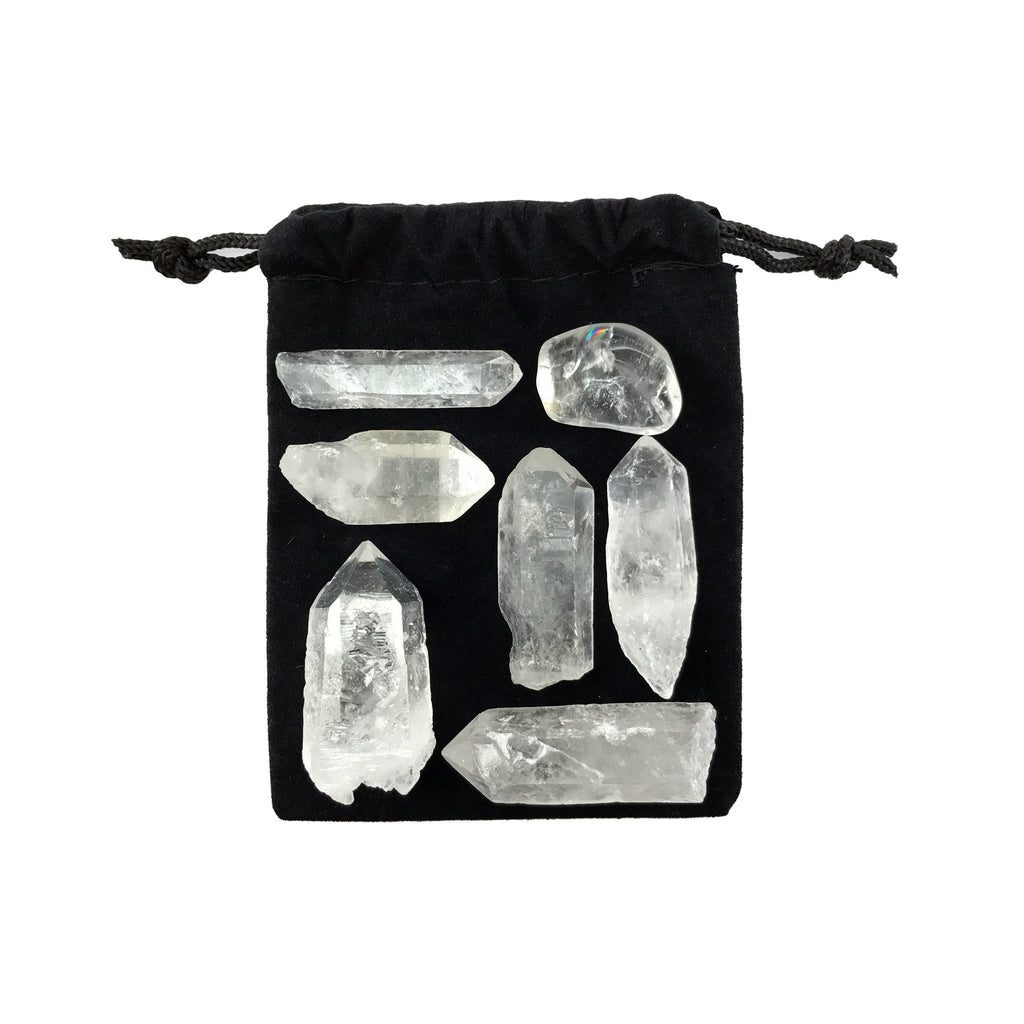 Quartz Crystal Point Set - Clear Quartz Points