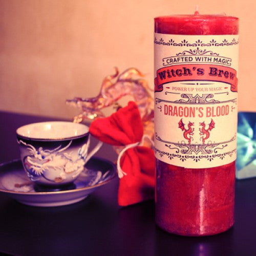 Dragon's Blood Witch's Brew Spell Candle