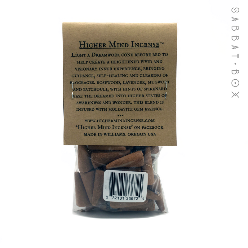 Dreamwork Handmade Cone Incense By Higher Mind Incense