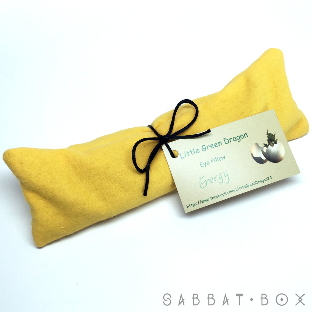 Hand Sewn Energy Eye Pillow With Lemon Verbena and Eucalyptus