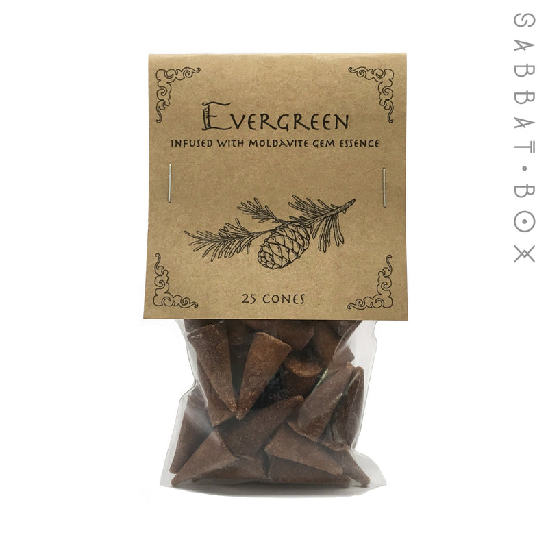 Evergreen Cone Incense - 25 Pack - Higher Mind Incense