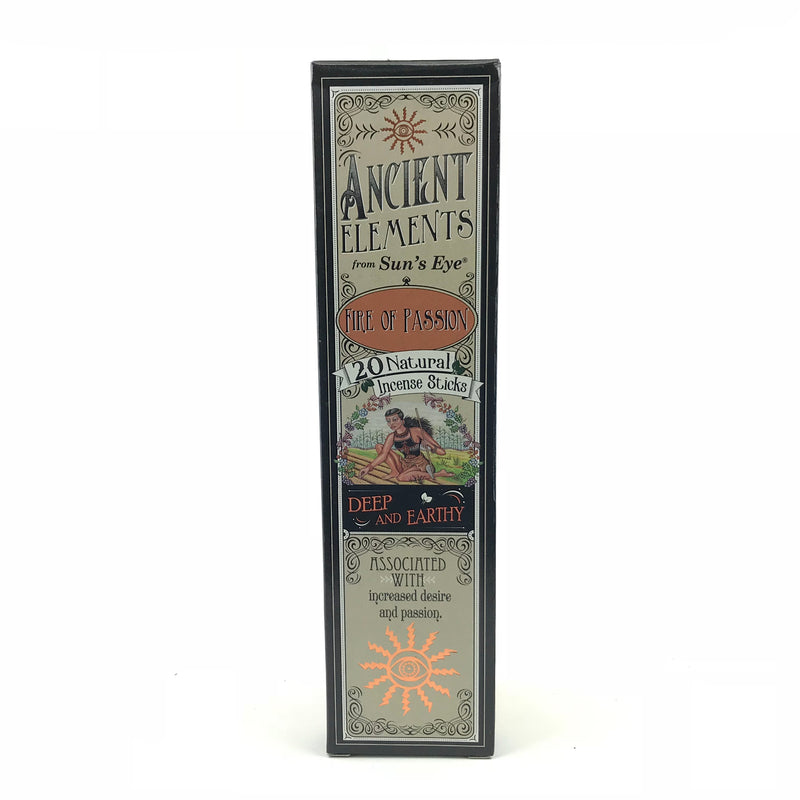 Fire of Passion Ancient Elements Stick Incense by Sun's Eye - Sabbat Box