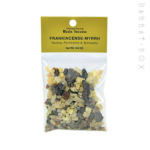 Frankincense & Myrrh Resin Incense .75 oz