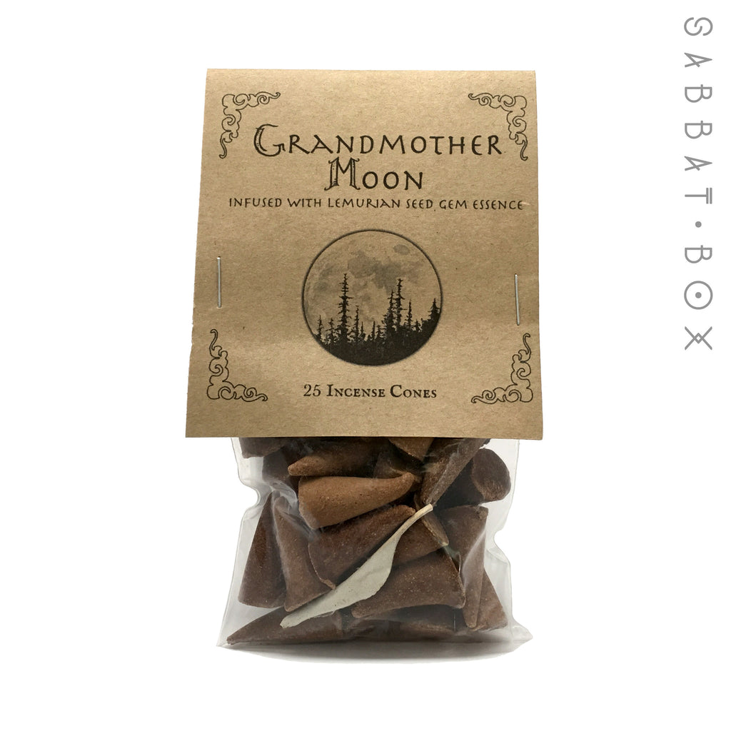 Grandmother Moon Cone Incense - 25 Pack - Higher Mind Incense