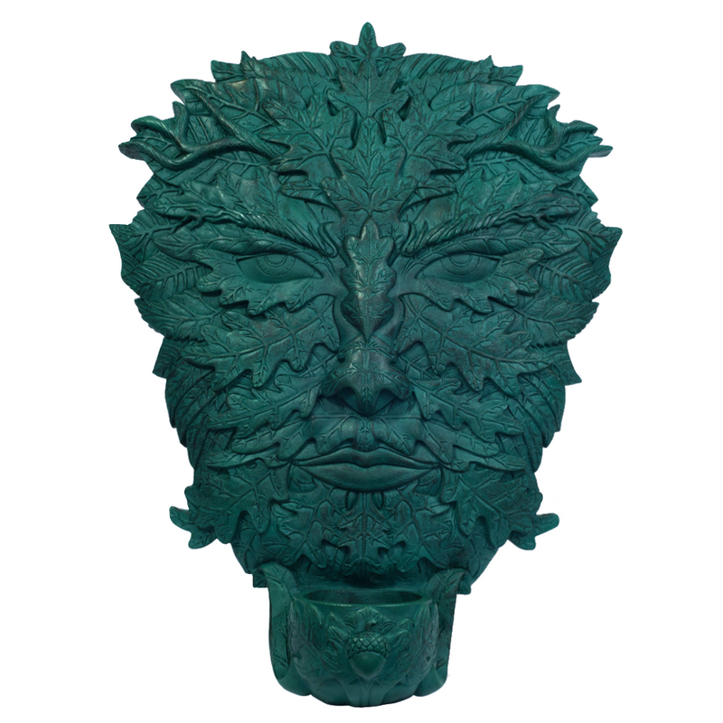 Greenman Plaque with Offering Bowl