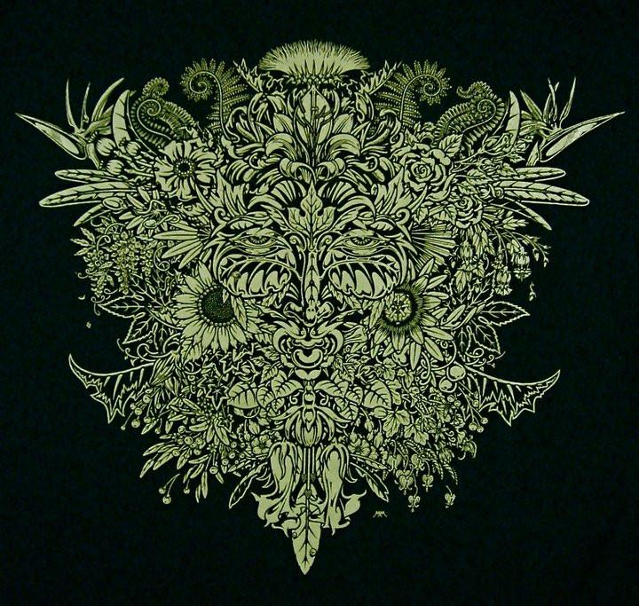 Celtic Greenman-Pagan/Wiccan Shirt