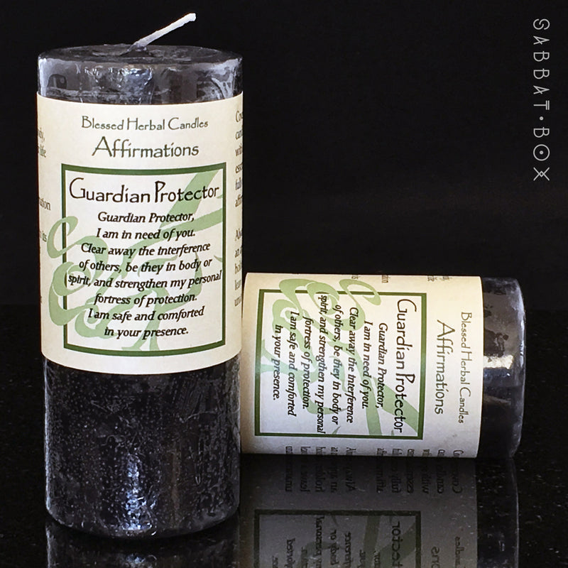 Protection Blessed Herbal Affirmation Spell Candle