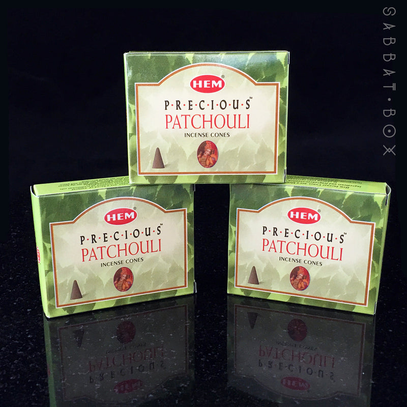 HEM Precious Patchouli Cone Incense 10 Pack