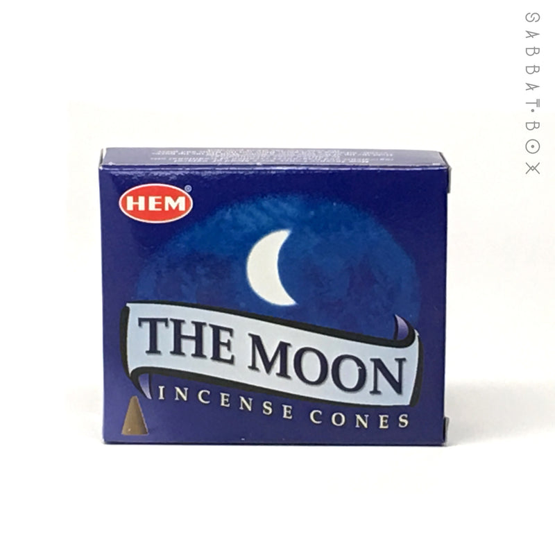 The Moon Cone Incense by HEM 10 Pack