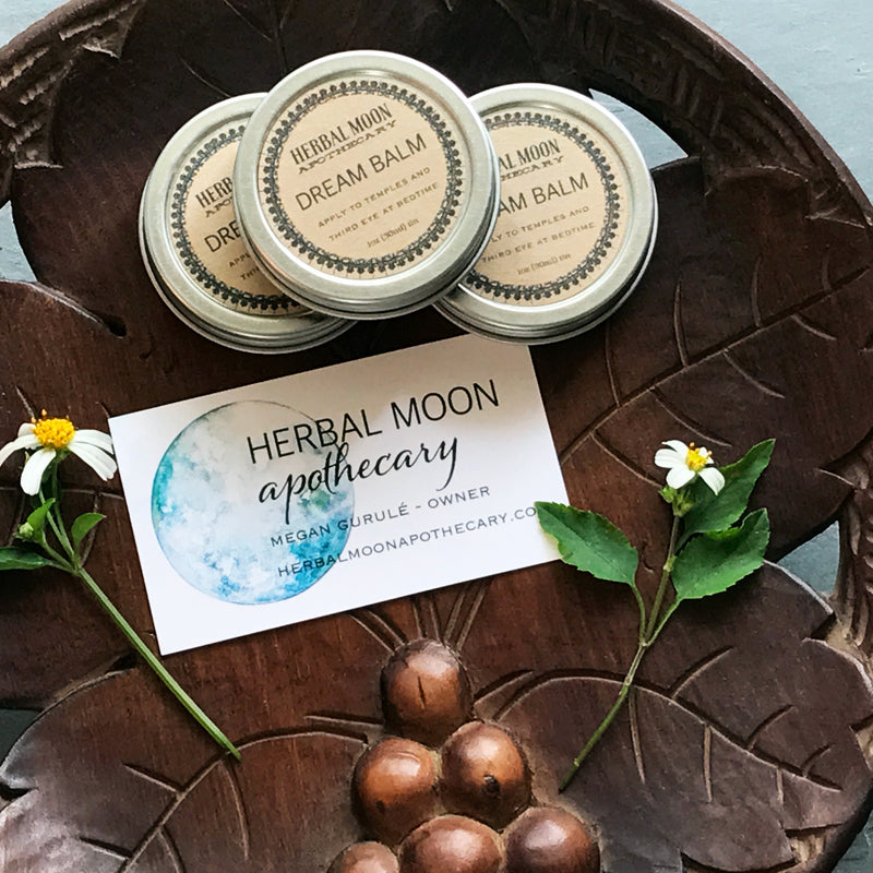 Dream Balm By Herbal Moon Apothecary - 1 oz Tin. - Sabbat Box Herbal Witchery