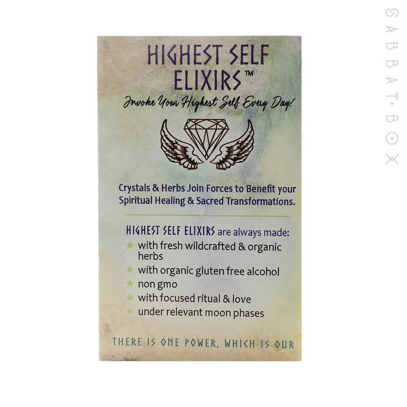 Cloud 9 - Crown Chakra Gem Essence Herbal Elixir - Highest Self Elixirs