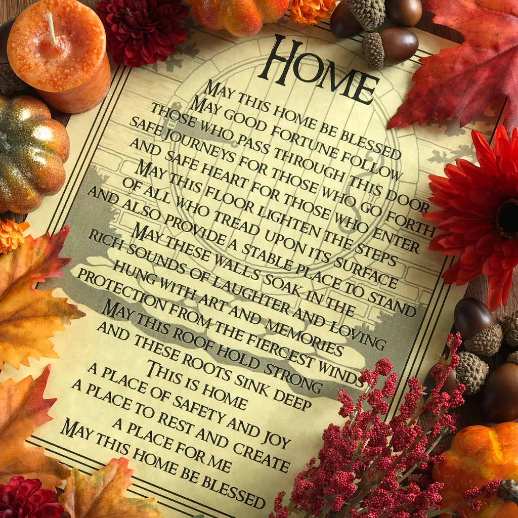 Home Blessing Parchment - Sabbat Box Mabon Sabbat Box