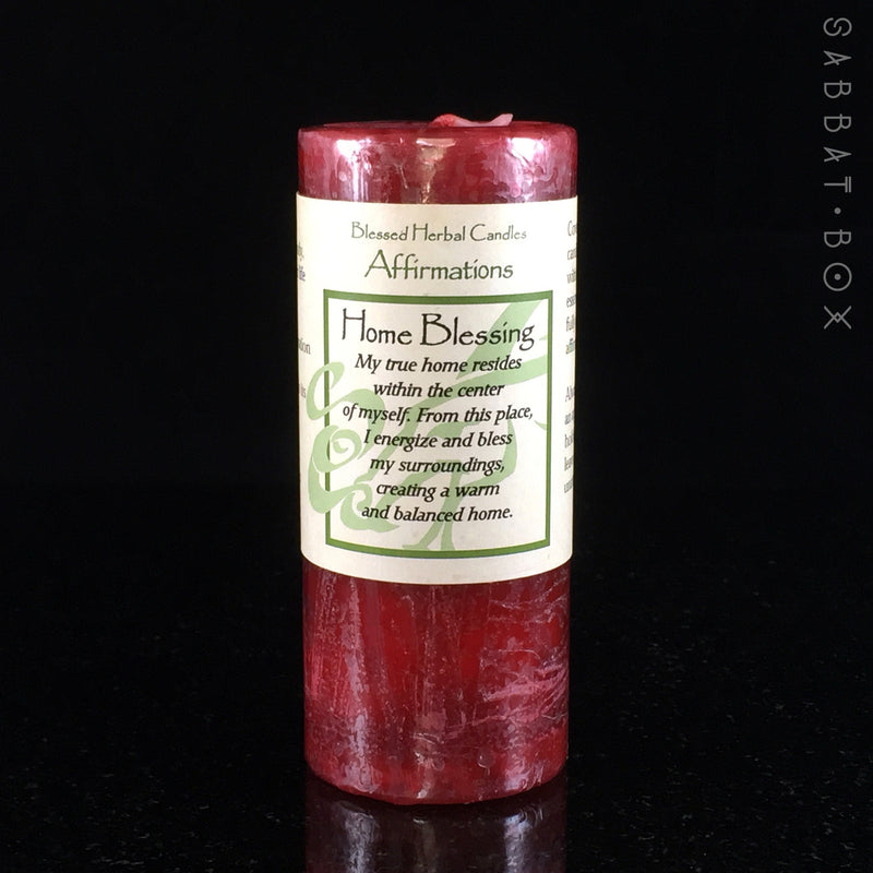 Home Blessing Spell Candle - Blessed Herbal Candle Coventry Creations