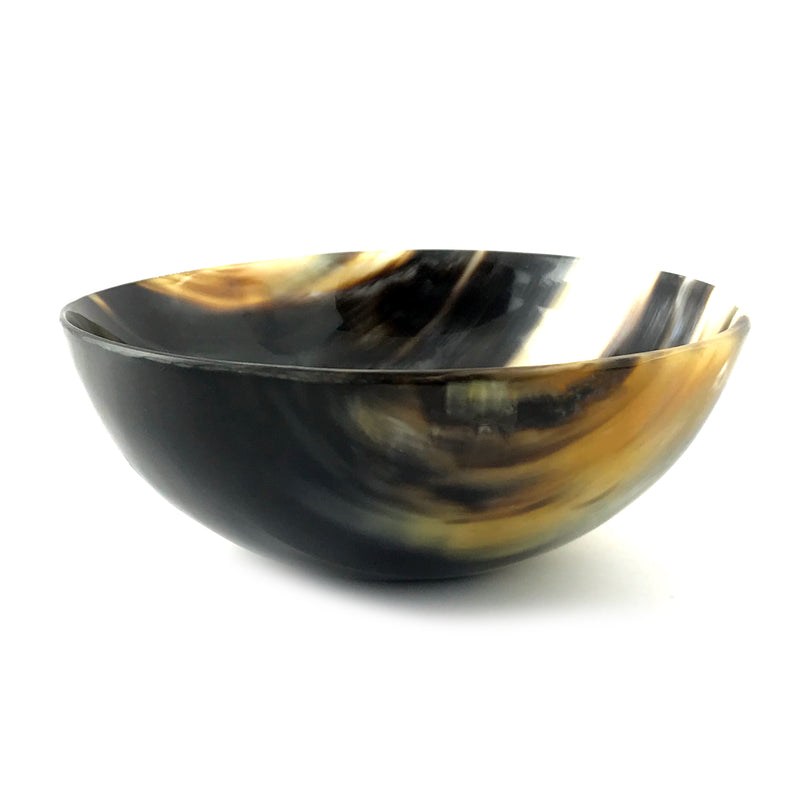 Polished Horn Ritual Offering Bowl - 5.25 inch - Sabbat Box