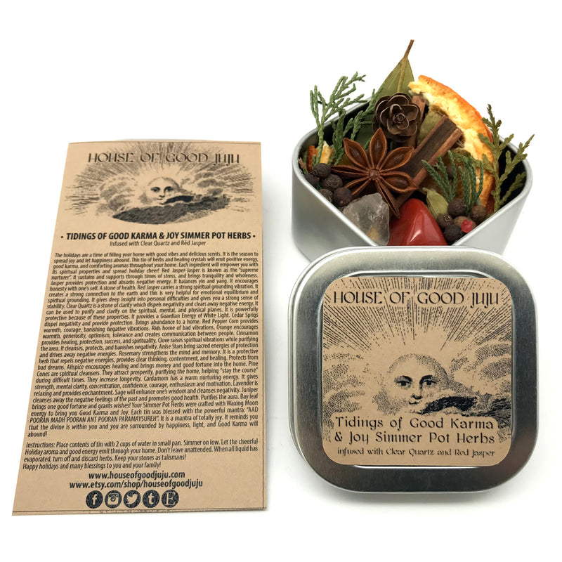 Tidings of Good Karma and Joy Winter Solstice Simmer Pots By House of Good Juju - Sabbat Box