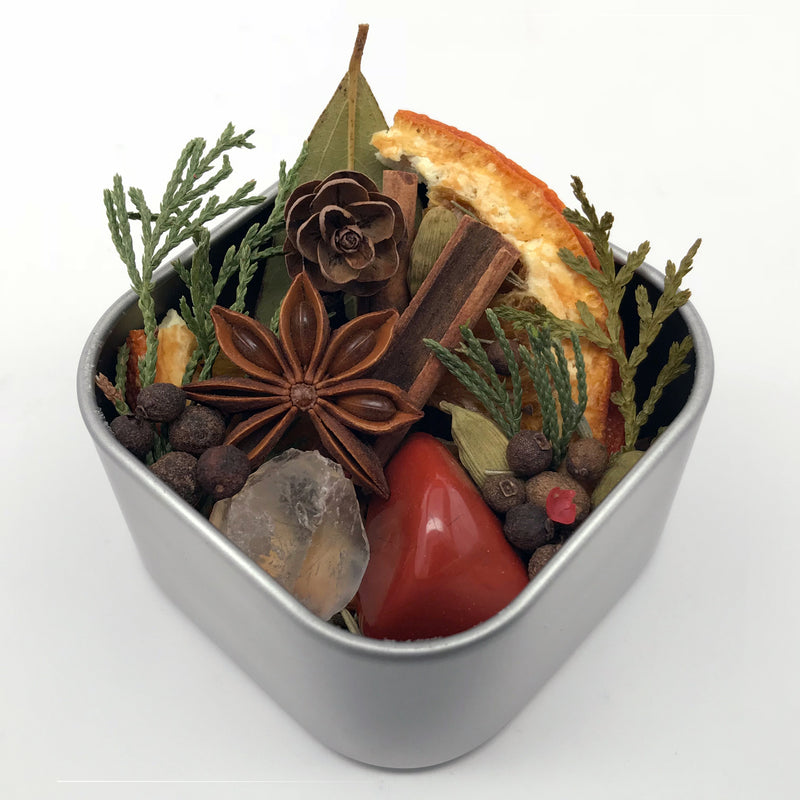 House of Good Juju Yule Simmer Pots - Tidings of Good Karma And Joy Simmer Pots - Sabbat Box