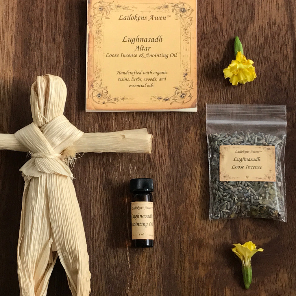 Lammas Lughnasadh Altar Incense and Oil Set By Lailoken's Awen - Sabbat Box