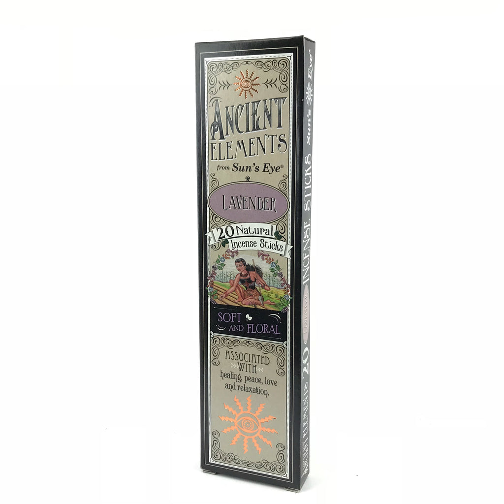 Lavender Ancient Elements Stick Incense by Sun's Eye - Sabbat Box