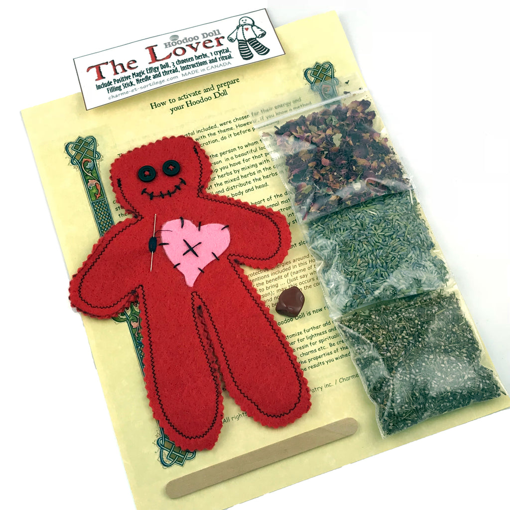 The Lover Poppet Kit w/Instructions - Lover Voodoo Doll - Sabbat Box